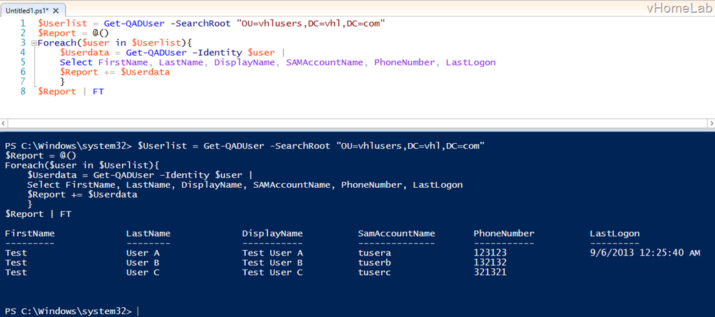 Export Active Directory User details to Excel using PowerShell