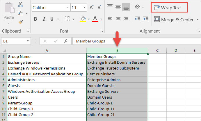 How to find and report nested groups in Active Directory