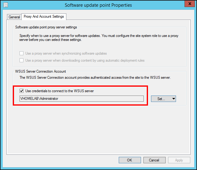 SCCM 2012 R2: WSUS Synchronization Failed  WSUS Update