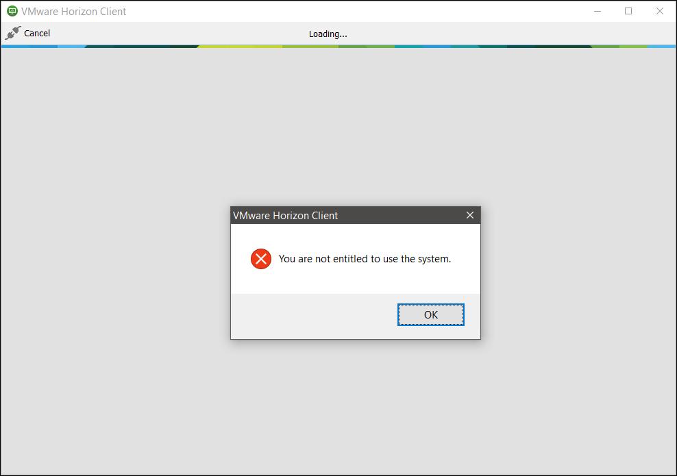VMware Horizon View – Remote Access Error : You are not